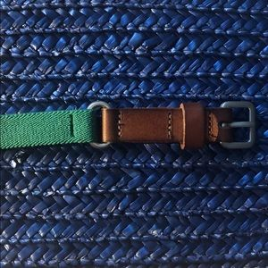 LOFT brown and green stretchy belt